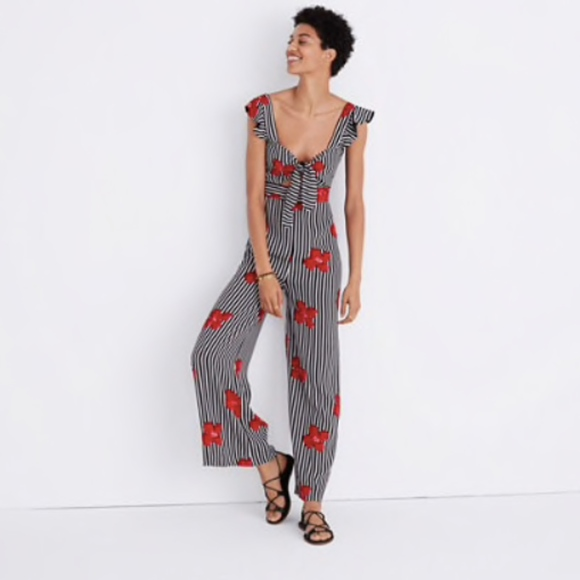 715be0a5352 Madewell Plumeria Cutout Jumpsuit in Orchids 2